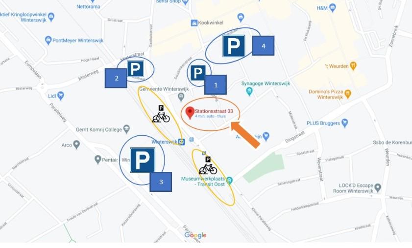 Parkeergelegenheid RouteWenters