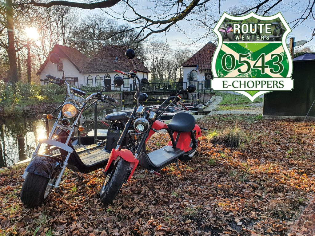 E-choppers Route Wenters met Logo